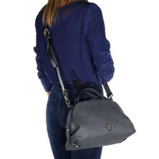Borbonese Sexy Bag Small in Graffiti Grigio 904103F09148 2
