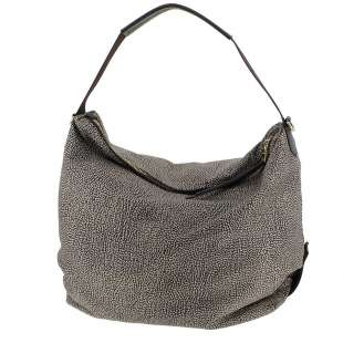 Borbonese Hobo Medium in Jet OP Classico/Marrone 934383296C45
