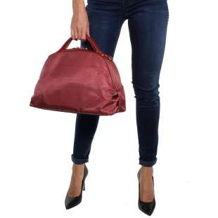 Borbonese Sexy Bag Medium in Jet OP Burgundy 934421296T09 2