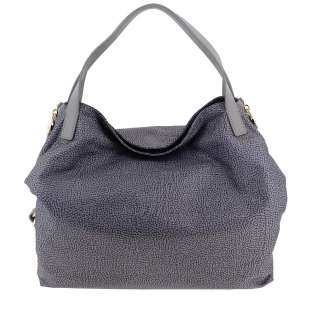 Borbonese Hobo Medium in Jet OP Grigio 934451296Q80