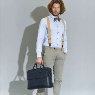 The Bridge Briefcase Williamsburg 06142701 Navy Blue 2